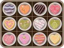 Caixa dos chocolates Fotografia de Stock