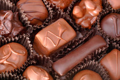 Caixa dos chocolates imagens de stock