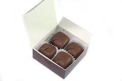 Caixa dos chocolates imagem de stock