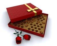 Caixa dos chocolates ilustração stock