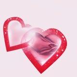Caixa dos corações Fotografia de Stock