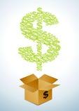 Caixa dos dólares Imagem de Stock Royalty Free