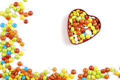 Caixa dos doces da forma do coração Foto de Stock