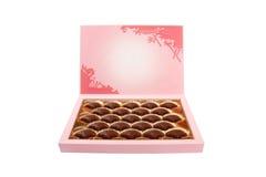 Caixa dos doces de chocolate Imagem de Stock