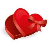 Caixa dos doces do coração Foto de Stock Royalty Free