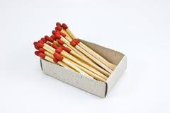 Caixa dos matchsticks Foto de Stock