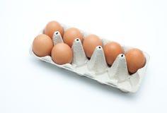 Caixa dos ovos Imagens de Stock