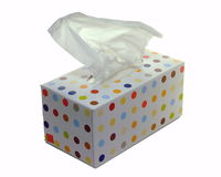 Caixa dos tecidos de papel Foto de Stock