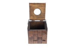 Caixa dos tecidos que abrem feita da madeira Imagens de Stock Royalty Free