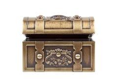 Caixa dourada Imagem de Stock