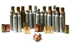 Caixa e balas de cartucho Fotografia de Stock