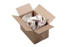 Caixa e empacotamento de cartão Foto de Stock Royalty Free