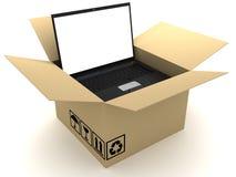 Caixa e PC Imagem de Stock Royalty Free