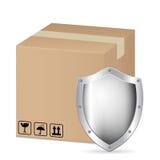 Caixa e protetor Imagem de Stock