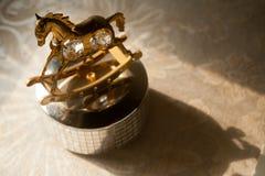 Caixa e sombra de música Fotografia de Stock Royalty Free