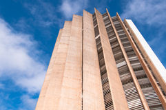 Caixa Economica Federal Building. Brasilia, Brazil - June 6, 2015: Caixa Economica Federal headquarters building. It is the fourth largest bank in Brazil by Stock Image