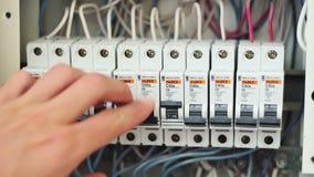 Caixa elétrica de comutação do disjuntor filme