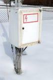 Caixa elétrica do metal Fotografia de Stock