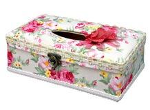 Caixa elegante do tecido isolada Imagem de Stock