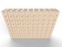 A caixa encaixota a parede Imagens de Stock Royalty Free
