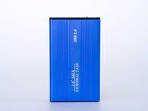 Caixa externo 2 do azul 5 polegadas Fotografia de Stock