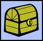 Caixa fechada dos tesouros Imagens de Stock Royalty Free