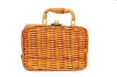 Caixa, fechada, mala de viagem com punho Imagens de Stock Royalty Free