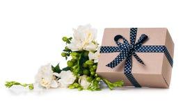 Caixa feito a mão com presente Foto de Stock