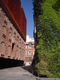 Caixa Forum Museum In Madrid With Vertical Garden Royalty Free Stock Images