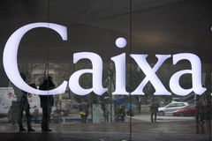 Caixa Forum museum sign  in Madrid Stock Photos