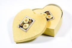 Caixa Heart-shaped fotos de stock royalty free