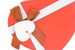 Caixa Heart-Shaped vermelha foto de stock royalty free