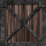 Caixa Locked forte do metal ilustração royalty free