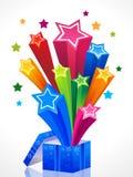 Caixa mágica colorida abstrata Imagens de Stock Royalty Free