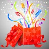Caixa mágica da surpresa Imagem de Stock