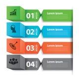 Caixa moderna da bandeira do negócio infographic Foto de Stock