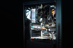 Caixa moderna do computador montada completamente fotos de stock