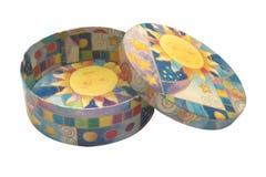 Caixa Multicolour aberta Fotografia de Stock Royalty Free