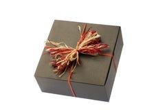 Caixa negra com curva natural colorida. Isolado foto de stock