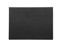 Caixa negra isolada no branco imagens de stock