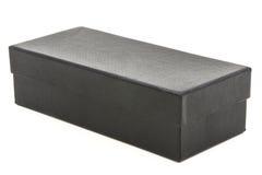 Caixa negra no fundo branco Imagens de Stock
