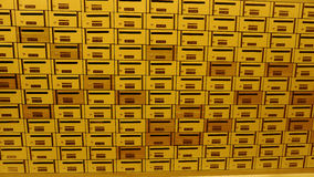 Caixa ou caixa postal do cargo do cacifo Foto de Stock