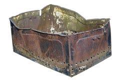 A caixa oxidada do metal Imagens de Stock