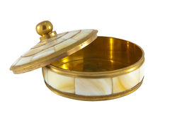 Caixa para a jóia com o nacre ornamentado Imagem de Stock