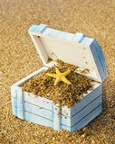 A caixa perdida com tesouros Imagens de Stock Royalty Free