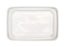Caixa plástica do alimento Fotografia de Stock