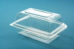 Caixa plástica transparente imagem de stock