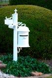 Caixa postal branca Fotografia de Stock