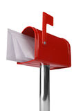 Caixa postal com bandeira imagens de stock