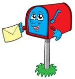 Caixa postal com letra ilustração royalty free